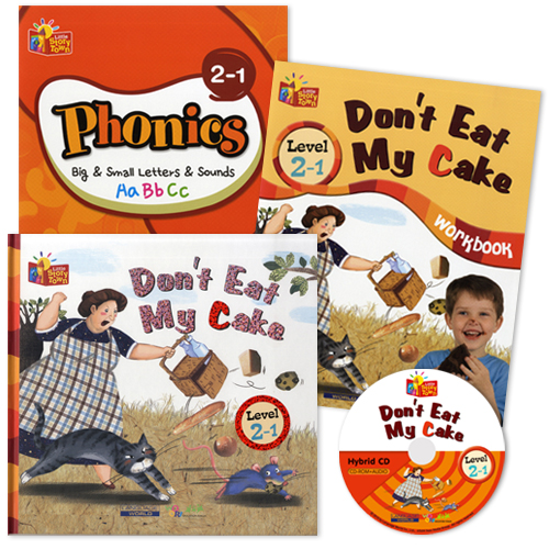 Little Story Town 2-1:Don't Eat My Cake (B+CD+W+Phonics) Set
