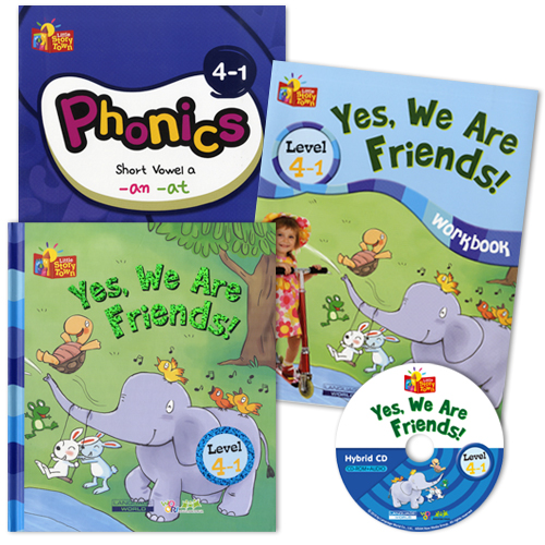 Little Story Town 4-1:Yes, We Are Friends! (B+CD+W+Phonics) Set