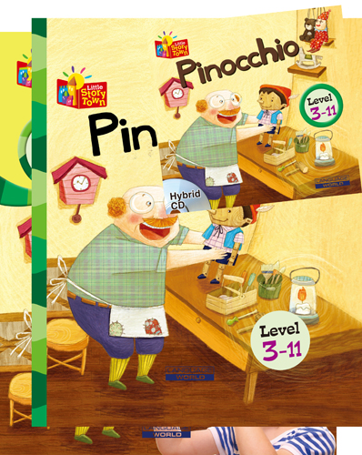 Little Story Town 3-11:Pinocchio (B+CD+W+Phonics) Set