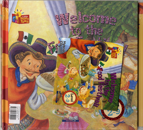 Little Story Town 2-9:Welcome to the Food Festival (B+CD+W+Phonics) Set