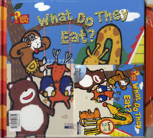 Little Story Town 2-4:What do they eat? (B+CD+W+Phonics) Set