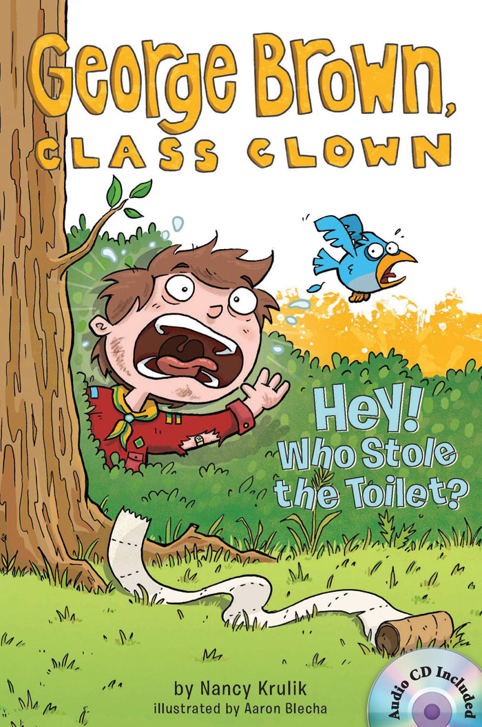 Thumnail : George Brown,Class Clown #8: Hey! Who Stole the Toilet? (B+CD)