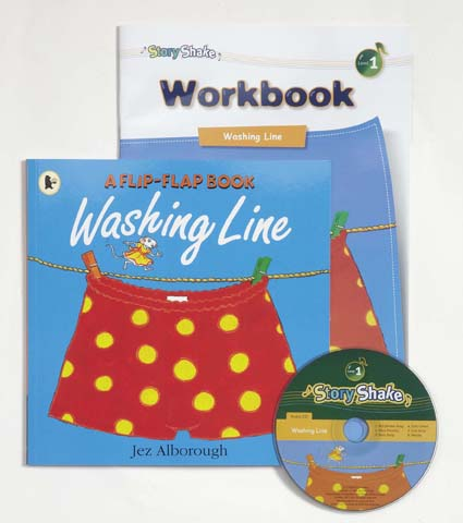 Story Shake Pack 1 Washing Line (B+CD+W) 대표이미지