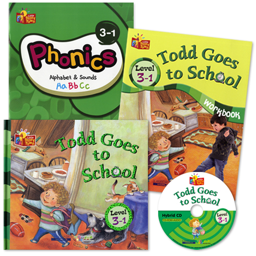 Little Story Town 3-1:Todd Goes to School (B+CD+W+Phonics) Set