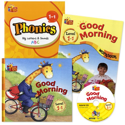 Little Story Town 1-1:Good Morning (B+CD+W+Phonics) Set