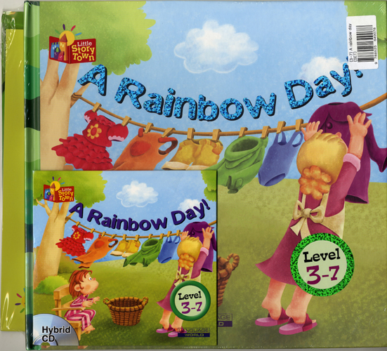 Little Story Town 3-7:A rainbow day (B+CD+W+Phonics) Set
