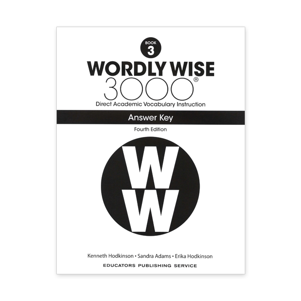 Wordly Wise 3000: Book 03 Answer Key (4/E)