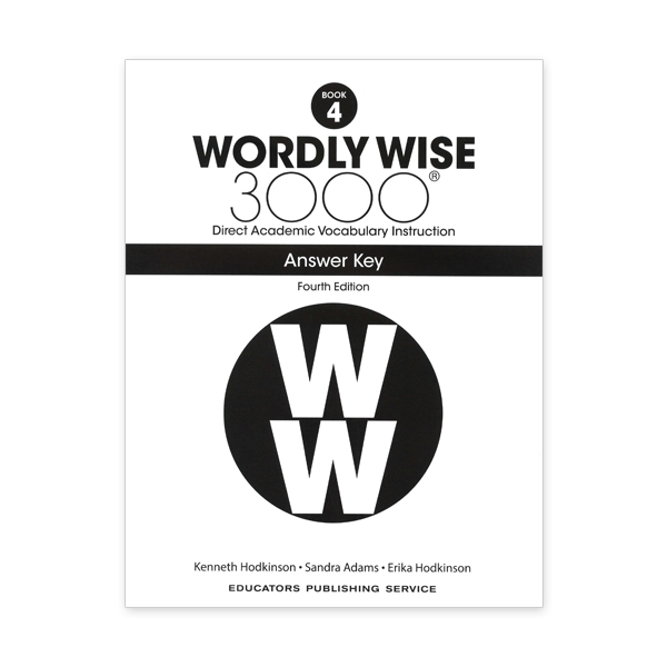 Wordly Wise 3000: Book 04 Answer Key (4/E)