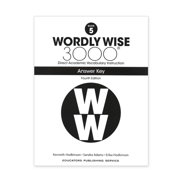 Wordly Wise 3000: Book 05 Answer Key (4/E)