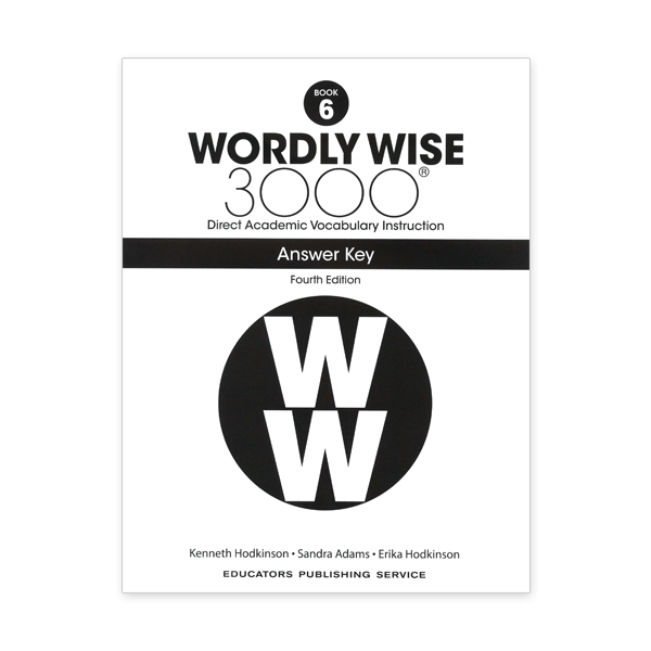 Wordly Wise 3000: Book 06 Answer Key (4/E)