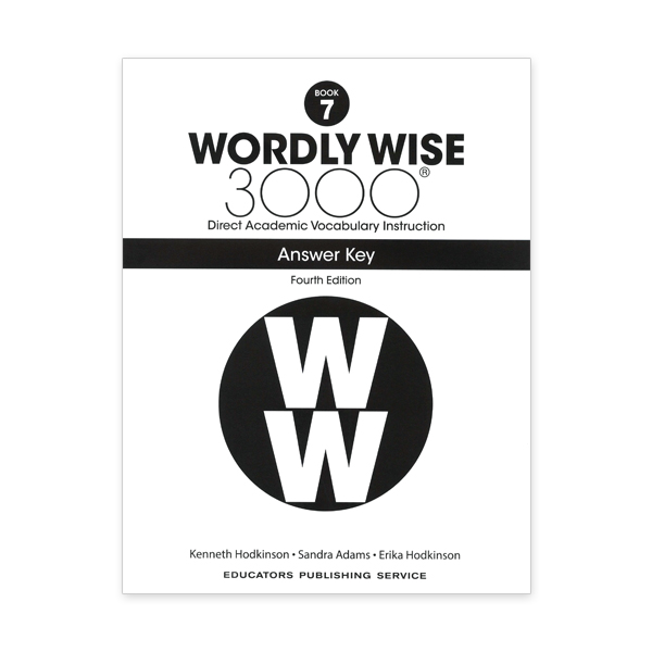 Wordly Wise 3000: Book 07 Answer Key (4/E)