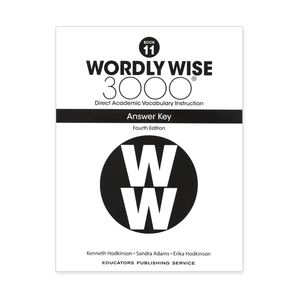 Wordly Wise 3000: Book 11 Answer Key (4/E)