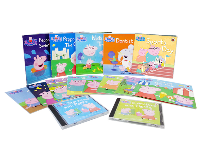 Peppa Pig Set (13 Books+2 CD)