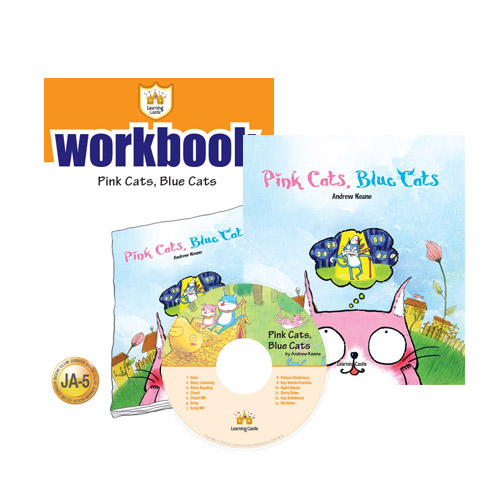 러닝캐슬 JA-05-Pink Cats, Blue Cats (SB+WB+CD) 대표이미지